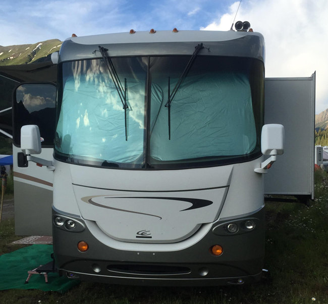 RV Hot Sun Spring Shade Class A, B, C | Blondie's Pit Stop